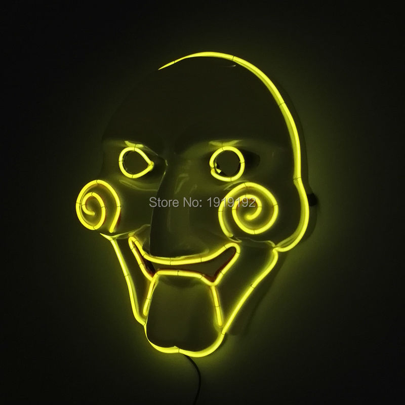 ₪2017 Hots Halloween Ghost EL wire mask With Saw Movie light up ...