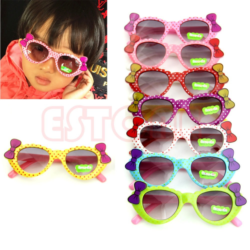 ping Summer Style Cute Baby Boys Girls Kids Sunglasses Glass Child Goggles Bow Eyewear gafas de sol UV 400