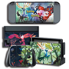 Color Stickers Vinyl Screen Sticker for Pokemonn X/Y Skin Sticker for Nintendo Switch NS Console+Controller+Stand Sticker