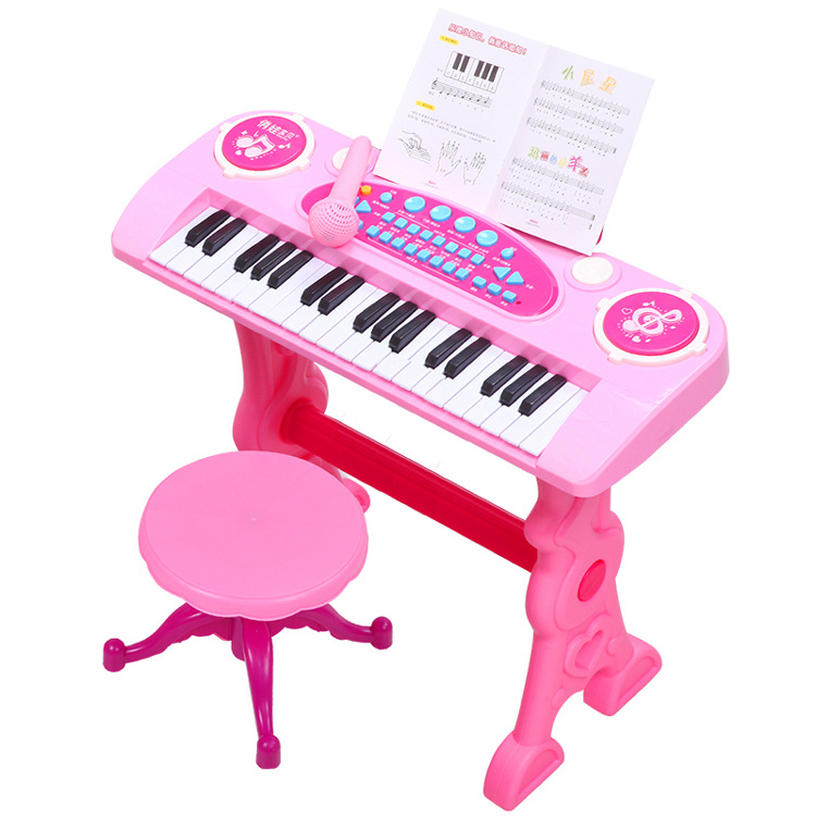 Children Electronic Organ and Drum 37 Key Piano with Microphone Baby Educational Toy Drop Shipping Free Shipping kawo kids beats flash light toy drum set with adjustable sing along microphone