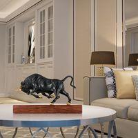 Чистый Медь современного искусства энергичный бык Бронзовый Скульптура полный импульс силой животных Скульптура Bull изысканный декор комн