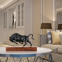 Pure Copper Modern Artwork Vigorous Bull Bronze Sculpture Full of Momentum Strength Animal Sculpture Bull Exquisite Room Decor