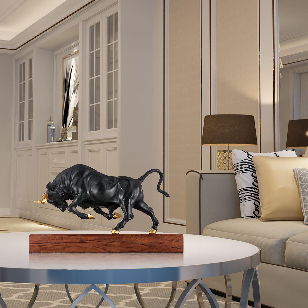 Reines Kupfer Moderne Kunstwerk Kräftige Bull Bronze Skulptur voller Dynamik Festigkeit Tier Skulptur Bull Exquisite Room Decor