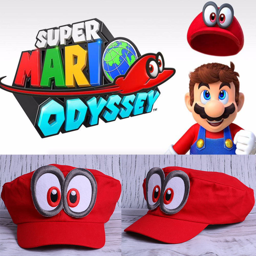 Costumes & Accessories Super Mario Hat Red Odyssey Wearable Baseball Caps Unisex Drop Shipping Costume Props