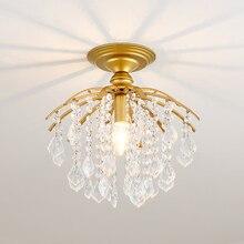Gold Crystal Ceiling Lights For Ceiling Luxury Modern Bedroom LED Lustres De Cristal Home Indoor Lighting Fixtures