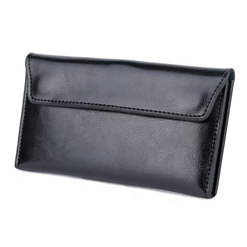 Fashion Genuine Leather Women Long Wallet Large Capacity Clutch Wallet  Lady Money Bag Coin Card Holders Phone Bag