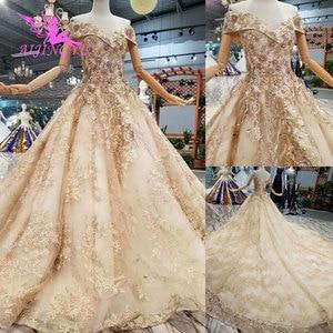 Image 4 - AIJINGYU חתונה שמלות קנדה לקנות יוקרה נישואים באינטרנט בטורקיה שני באחד אירוסין סקסי רעלה חתונה כלה חנויות