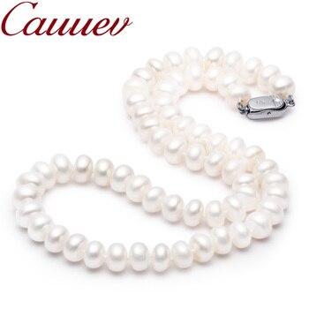 e89bb9a85a8e Cauuev precio increíble AAAA de alta calidad collar de perlas naturales de  agua dulce para las