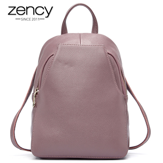 Zency Charm Women Backpack 100% Genuine Leather Anti-theft Button Elegant Female  Travel Bags Schoolbag For Girl Holiday Knapsack bb2c5b494f678