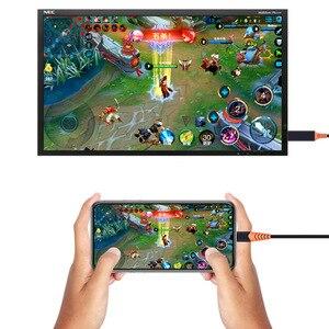 Image 4 - Larryjoe Tipo c Para Hdmi Com Tela Do Telefone TV Conexão Display Tipo c Para Hdmi 4K Com fonte de Alimentação Para Samsung Galaxy S10 S9