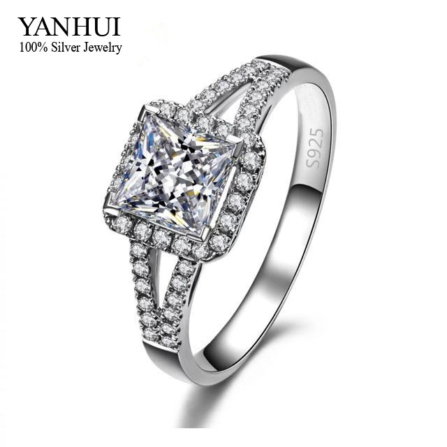 Lost Money Big Promotion! S925 Stamp Sterling Silver Engagement Ring Set 2 Carat Imitated Diamant Wedding Rings For Women JZR008 big promotion 100