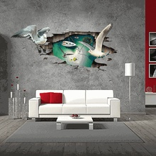 3D pigeon wall sticker decal art decor vinyl home room window door mural stencils for walls
