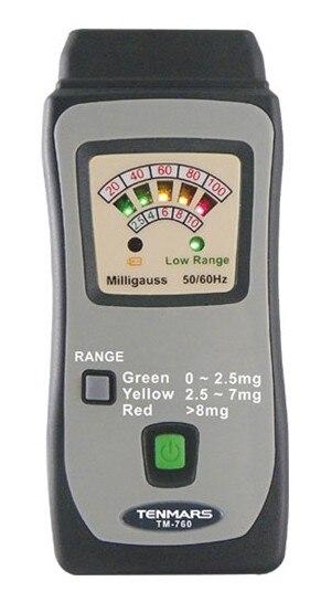 Aletler'ten Parlaklık Ölçerler'de Tenmars TM 760 Mini EMF ELF Elektrik Manyetik Alan Gauss Metre Test Cihazı