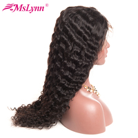 Mslynn Lace Front Human Hair Wigs With Baby Hair Deep Wave Brazilian Hair Non Remy Hair