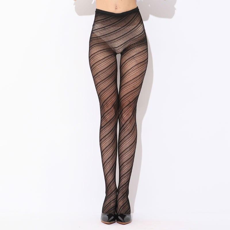 576c1c471 Sexy Women Pantyhose Stockings Black Solid Fishnet Mesh Tights Striped  Tattoo Net Thigh High Silk Stockings Pantyhose stockings
