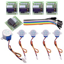 ELEGOO Relay Arduino Stepper Motor + ULN2003 Driver Board for Arduino 5 sets 28BYJ-48 ULN2003 5V