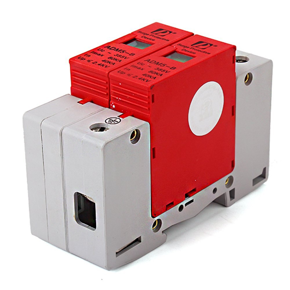 2P 40~80KA Din Rail Surge Protection Over Voltage Lightning Arrester SPD White spd surge thunder lightning protection device arrester 2p 40 80ka din rail mount