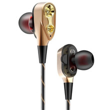 Double Dynamic Bass Sound Bluetooth Earphone In-Ear Wireless Earphones Noise Canceling Headset With MIC For Mobile Phone