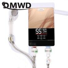 DMWD мгновенный Tankless Электрический водонагреватель кран кухня Быстрый кран с нагревом душ полива обогреватели ванная светодио дный LED дисплей