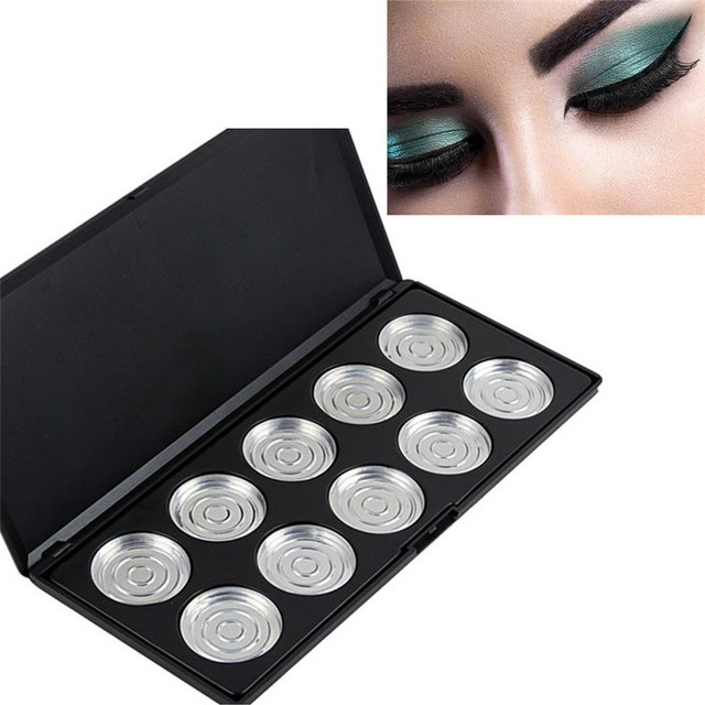 2017 * NEW10/28 piezas sartenes vacío sombra de ojos firme paleta funda herramienta de maquillaje