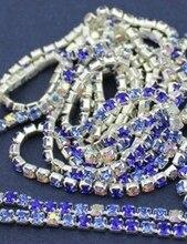10 mt/los 2mm kristall stein kette Mischfarbe blau & hochzeit Liefert Weihnachten party decor zubehör