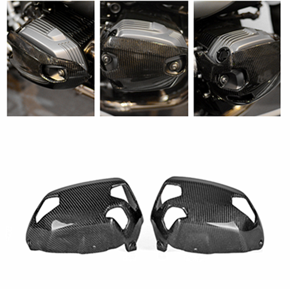 New Carbon Fiber <font><b>Cylinder</b></font> <font><b>Head</b></font> Guards Protector Cover For <font><b>BMW</b></font> <font><b>R1200GS</b></font> 2010 2011 2012 image
