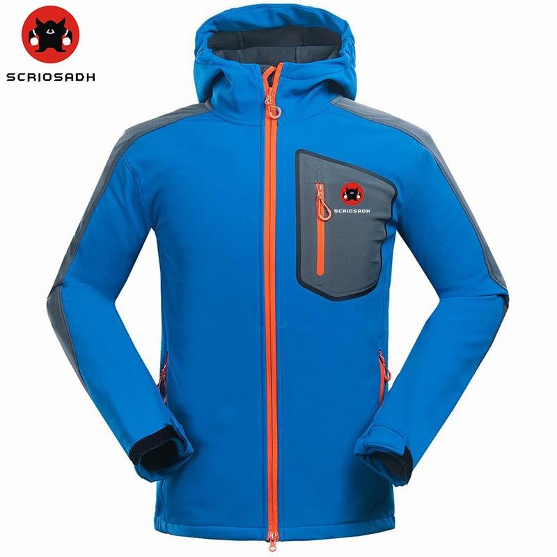 SCRIOSADH 2019 extérieur hommes Camping randonnée veste imperméable coupe-vent chaud polaire veste hommes sport séchage rapide Trekking veste
