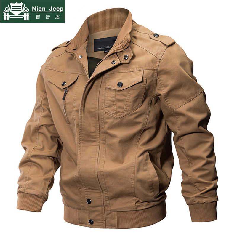 2020 בתוספת גודל צבאי מעיל גברים אביב סתיו כותנה מעיל טייס מעיל צבא גברים של מפציץ מעילי מטען טיסה מעיל זכר 6XL