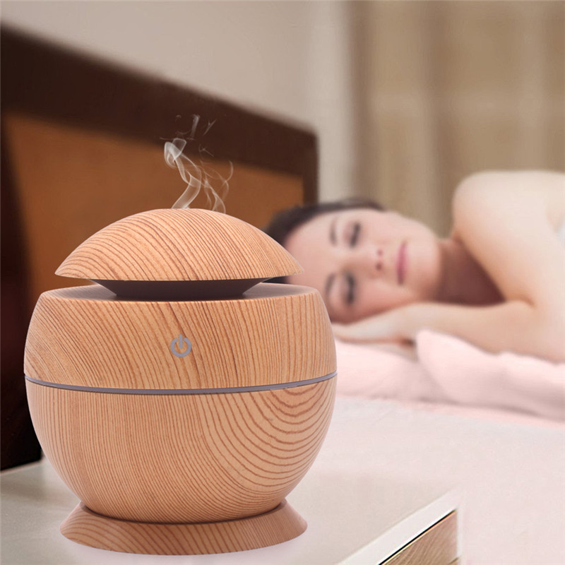 USB Air Humidifier Aroma Diffuser Ultrasonic Cool Mist Essential Oil Hhumidificador 7 Color Change LED light for Office Home