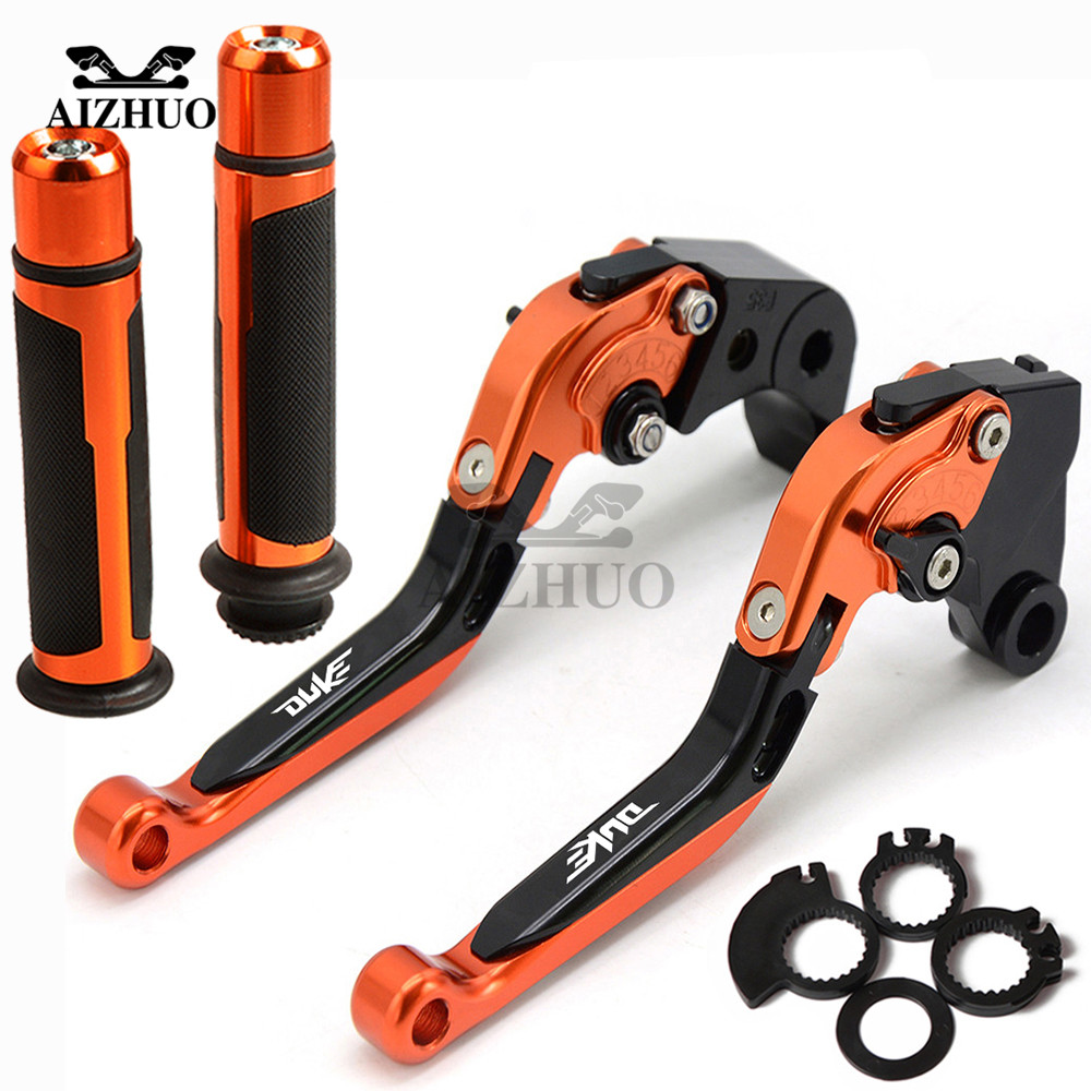 For KTM DUKE 125 DUKE125 RC125 2011-2016 2012 2013 2014 Motorcycle Brake Clutch Lever Extendable Adjustable Hand Grip Handlebar image