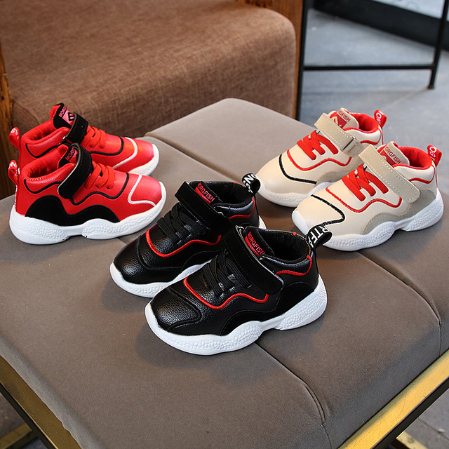 European 5 stars excellent boys girls shoes Flat with fashion baby shoes high quality breathable comfortable baby sneakers