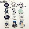 Chica Harajuku Acrílico Broche Personalizado Cáscara Del Teléfono Diy Accesorios Harajuku Insignia Texto Parche Accesorios de La Joyería