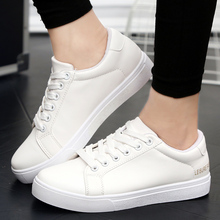 New 2018 Hot Spring/autumn Men Casual Shoes Synthetic The Young Mens Sneakers Size Plus 36-44 Color Black White 5