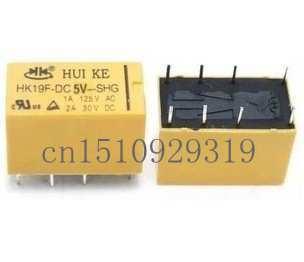 Relay sinyal HK19F-DC5V-SHG 8 kaki 1A 125VAC 2A 30VDC dua terbuka dua ditutup