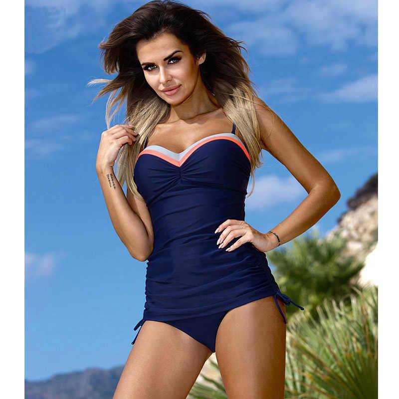 383e3818d8 ... Biseafairy 2019 New Swimwear Women Swimsuit Push Up Tankini Set Vintage  Retro Bandage Bathing Suit Beach ...