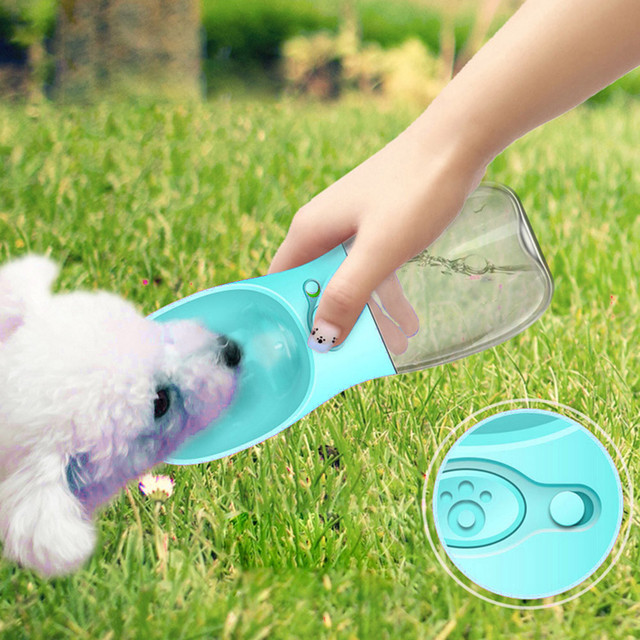 Cute Pet Travel Portable Water Dispenser Bottle Outdoor Dog Drinking Fountain Puppy Feeding Tool