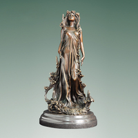 ATLIE Aphrodite Bronze Statue Greek Myth Goddess of Love Beauty and Fertility Figurine Metal Art Decor High end Gifts