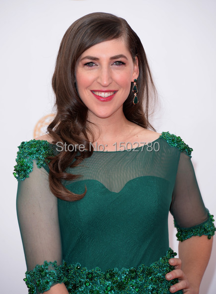 The 65th Emmy Awards Dresses Mayim Bialik Illusion Sleeves Sequins Emerald  Green Evening Dresses Plus Size-in Celebrity-Inspired Dresses from Weddings  ... bcbd8d48dccf