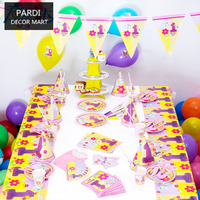One Year S Old Girl Birthday Party Decoration Party Supplies Set