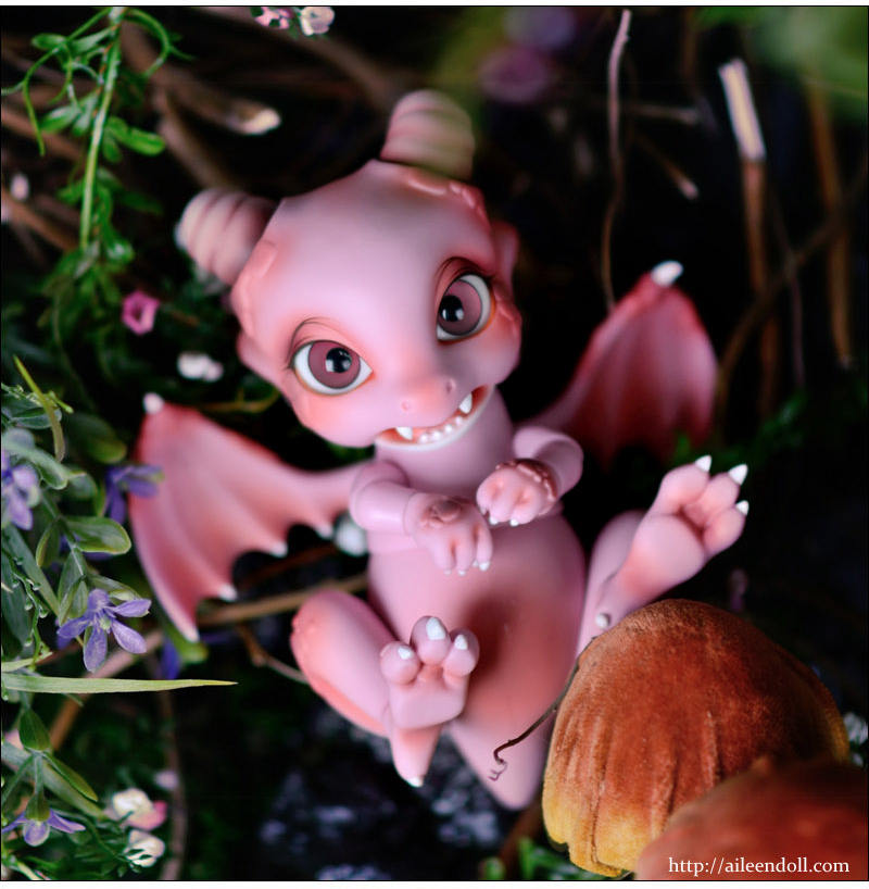 1/8 scale BJD nude doll about 15cm.BJD/SD Cute dragon recast.nude BJD not include clothes;shoes;makeup and wig, A15A1801