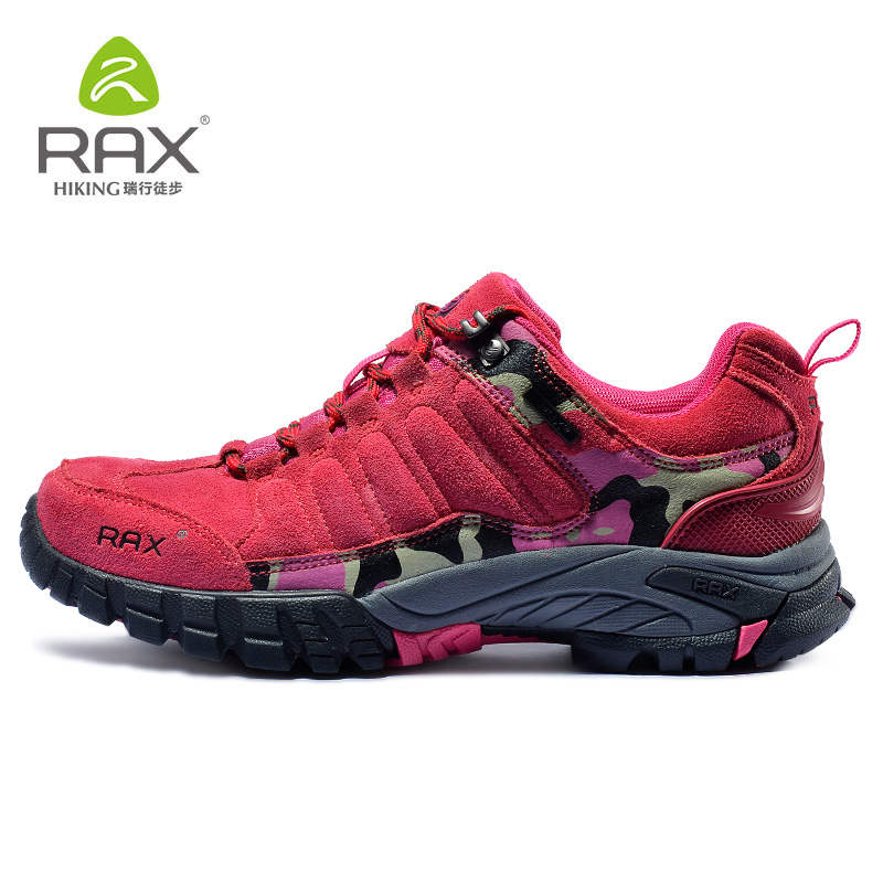 RAX Men Waterproof Leather Antiskid Hiking Shoes Men Outdoor Trail Camping Climbing Mountaineering Hunting Shoes 43-5c307 rax camping