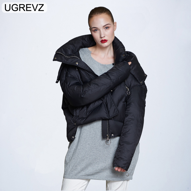 2019 New Fashion Hooded European Women's Bright Face   Down     Coats   Female 90% White Duck   Down   Jacket Women Short Parkas Windbreaker