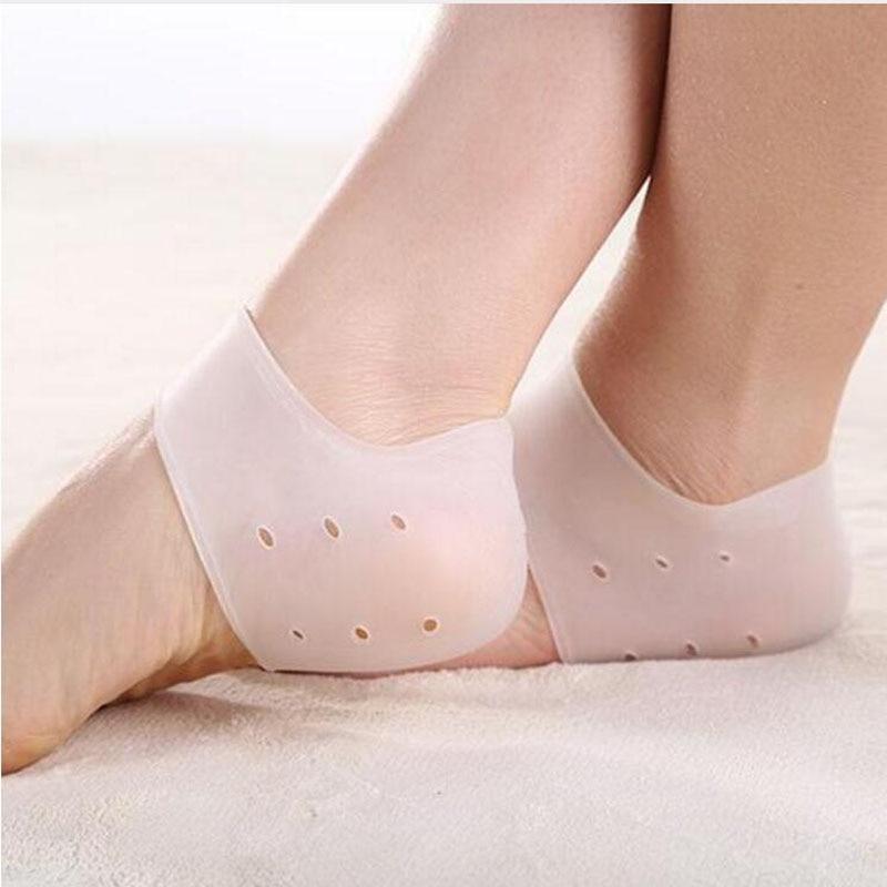 New Delicate Silicone Moisturizing Gel Heel Socks Like Cracked Foot Skin Care Protector MR0037