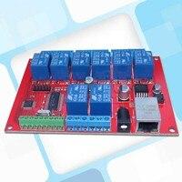 8 Ethernet Röle Ağ Anahtarı Noktası Dinamik Gecikme TCPUDP Denetleyici Modülü, yerel Düğmesi