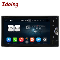 Idoing 2Din Car DVD Player Multimedia Fit Toyota Universal Steering Wheel Android6 0 GPS Navigation 8