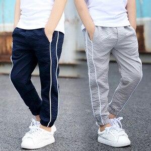 Summer Kids Cotton Kids Pants Boys Trousers For Children Teenage Pants Leisure School Teens Fashion Casual Pants Capris G268