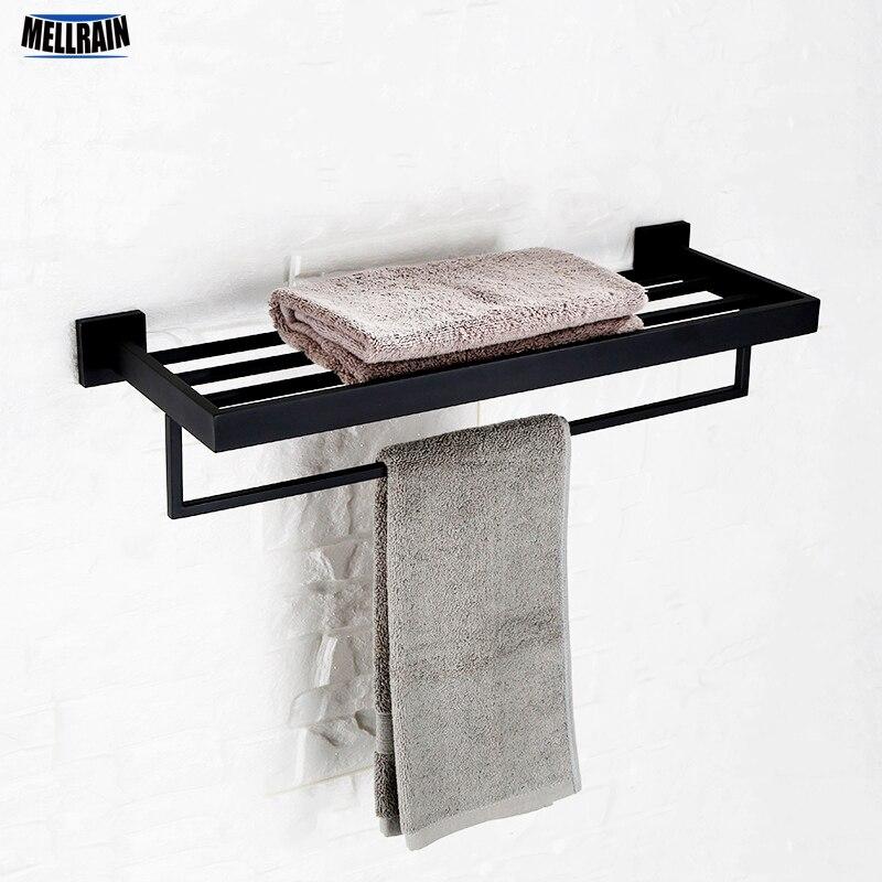 Nero bagno supporto del tovagliolo double deck parete portasciugamani in acciaio inox lucido blackand del bicromato di potassio placcato scelta