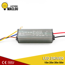 LED Driver 10W 20W 30W 50W Power Supply Lighting Transformer Adapter AC85V-265V To DC21-35V Waterproof Floodlight