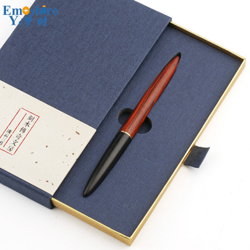 Brass Solid Wood Gel Pen Wood Ballpoint Pen Black Ballpoint Pen With Pencil Case High-grade Business Gifts Personalized P448 gulliver брюки для мальчика gulliver