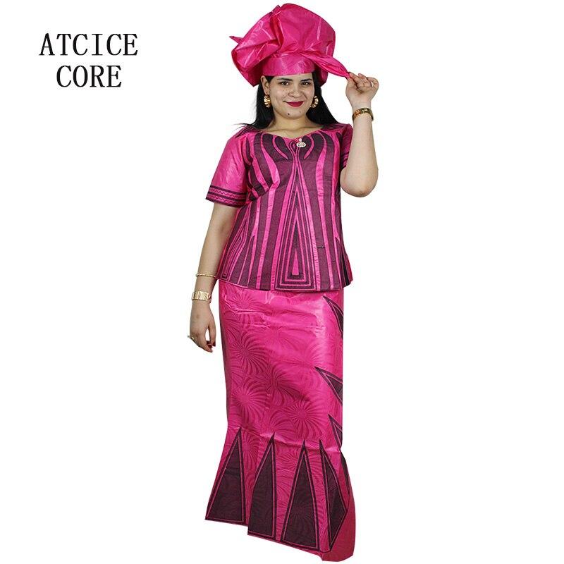 100% Kwaliteit Afrikaanse Jurken Voor Vrouw Bazin Riche Borduurwerk Ontwerp Lange Jurk Dp214